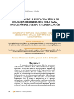 apropiación de la educación física en colombia