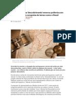 Por Que a Palavra 'Descobrimento' Renovou Polêmica Em Portugal Sobre a Conquista de Terras Como o Brasil - BBC News Brasil