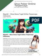 Bigo4d – Situs Dewa Togel Online Terpercaya Indonesia