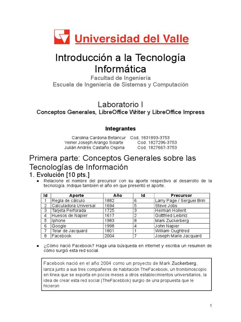 Plantilla Informe Laboratorio 1