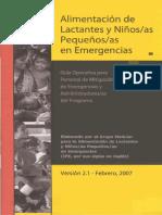 Alimentación de Lactantes Pequeños Emergencias 2007