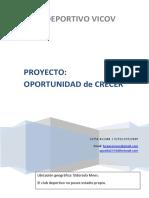 Proyecto SOCIAL DEPORTIVO Oportunidad de Crecer