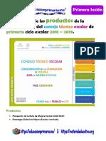 FormatosProductos1eraSesionCTE18-19PrimariaMEEP