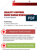 Pemantapan Mutu Bank Darah Rumah Sakit / QC BDRS