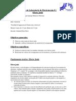 Informe de Laboratorio de Ley de Joule