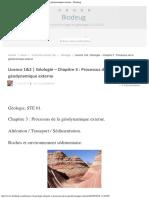 Licence 12 Géologie – Chapitre 3 Processus de La Géodynamique Externe – Biode