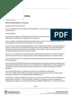 Decreto 882/2018 - Excusación de Mauricio Macri