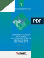 Impacto de Los Desastres Ocurridos en Mexico 1980-1999