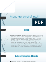 Manufacturing of insulin