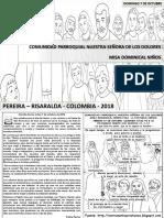 HOJITA EVANGELIO NIÑOS DOMINGO XXVII TO B 18 BN
