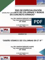 Diseño Sísmico de Columnas y Muros 2da Sesión