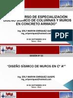 Diseño Sísmico de Columnas y Muros 3era Sesión