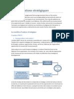 43096125 Les Modeles d Analyse Strategique