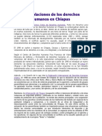 Las Violaciones de Los Derechos Humanos en Chiapas