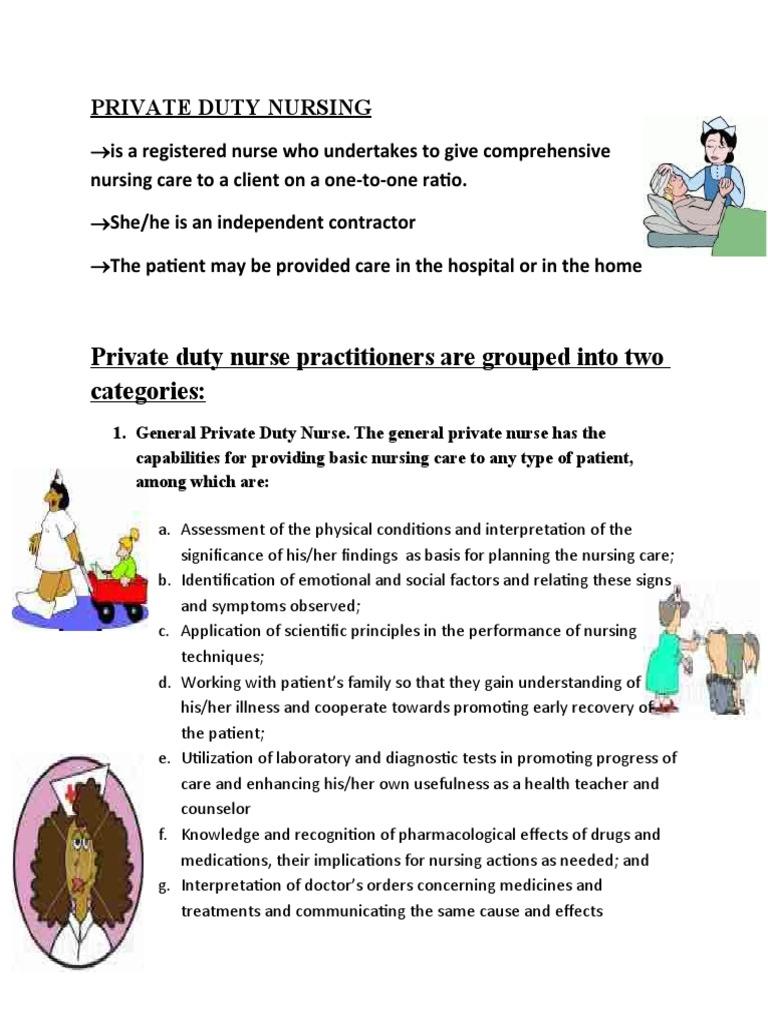 Private Duty Nursing Nurse Practitioner Physician