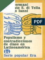 Gino Germani, Torcuato Di Tella, Octavio Ianni_Populismo y Contradicciones de Clase en Latinoamerica