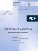 Cercetari Marketing Tecau