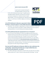Faq Iste Certification Program