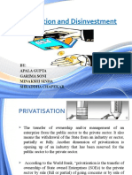 privatisation and disinvestment in india