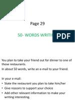 50 Words Writing