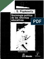 Sociologia Política de Las Reformas Educativas
