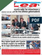 Periódico Lea Viernes 05 de Octubre Del 2018