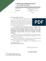 Surat Pemberitahuan Hasil Rapat Dta Al Awaliyah
