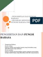 1. Perkembangan Bahasa Indonesia Dan Ragam Bahasa Indonesia