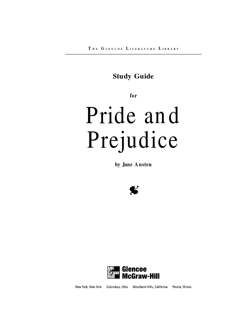 pride and prejudice answers