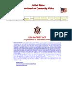 Ley Patriotica de Los Estados Unidos - USA Patriot Act