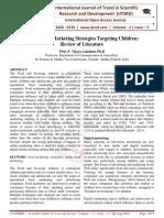 Digital Food Marketing Strategies Targeting Children
