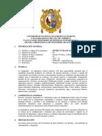 Sílabo Estructura de Datos i