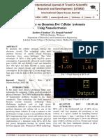 Review Paper on Quantum Dot Cellular Automata Using Nanoelectronics