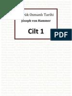 Buyuk Osmanli Tarihi 1.Cilt - Baron Joseph Von Hammer Purgsta