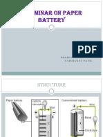 A Seminar on Paper Battery Cmplt2