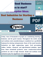 What are Good Business Sectors to start?