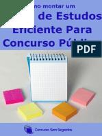 Como Montar Um Plano de Estudos Eficiente Para Concurso Público E-book Gratuito Do Site Www.concursosemsegredos.com