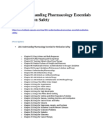 2011 Understanding Pharmacology Essentials for Medication Safety