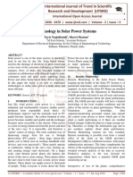 Technology in Solar Power Systems