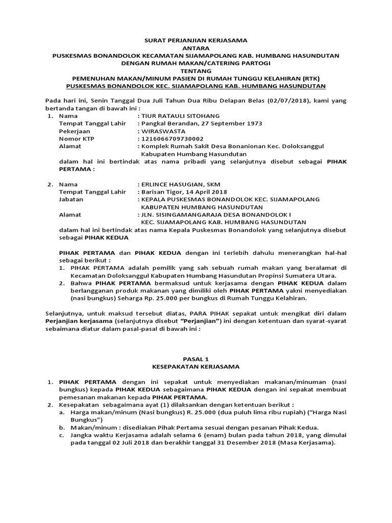 Surat Perjanjian Kerjasama Rtk
