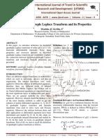 Fractional Quadruple Laplace Transform and its Properties