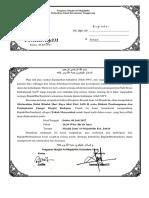 Surat Undangan Silaturahmi MAsjid