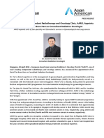Singapore-Based Independent Radiotherapy and Oncology Clinic, AARO, Appoints Dr. David Tan Boon Harn as Consultant Radiation Oncologist