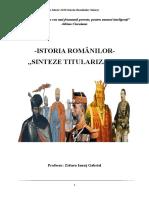 Sinteze Istoria Romanilor Titularizare 2018