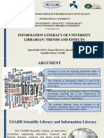 Information literacy of university librarian