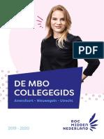 De mbo Collegegids 2019 -2020 van ROC Midden Nederland voor Amersfoort, Nieuwegein en Utrecht