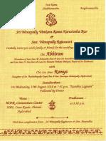 Abhiram Marriage Invitation