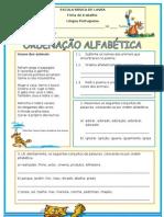 ORDENAÇÃO ALFABÉTICA - 5ºB