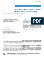 Honey Incorporated Antibacterial Acellular Dermal Matrix For