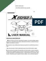 Syma x25 Pro Manual.en.Es